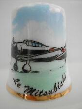 Dé à coudre de collection Thimble - LES AVIONS DE GUERRE - LE MITSUBISKI