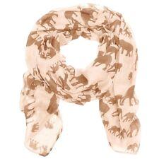Light Gold Elephant Imprimer Femme Fashion Maxi écharpe Wrap Sarong doux chaud