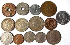 14 North America Island Nations Coins Guadeloupe Martinique Cayman St Pierre