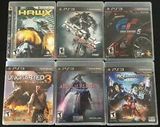 PS3 Games Lot - 6 games (Uncharted 3, Hawx, Reflex, GT5, FFXIV, DC Online)