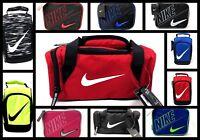Nike Kids Insulated School Lunch Box Tote Bag Duffel Swoosh Logo Red Black Blue