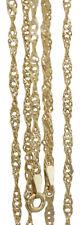 50 cm Goldkette 585 gedreht - Singapurkette - Gelbgold Halskette Gold 14 Karat
