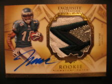 2009 UD Exquisite Jeremy Maclin RC Auto Eagles Logo Patch #/225 Baltimore Ravens