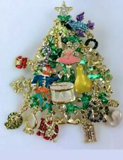 NEW Kirks Folly 12 Days of Christmas Magic Tree Pin/ Pendant w/Pouch & Packaging