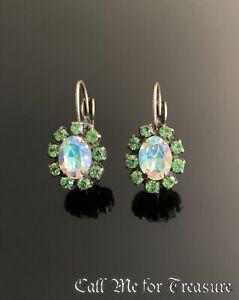 Liz Palacios Swarovski Crystal leverback earrings