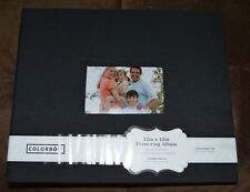 """NEW ~ EXTRA-LARGE COLORBOK 12.5"""" X 15"""" BLACK FABRIC SCRAPBOOKING ALBUM ~10 PAGES"""