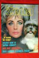 ELIZABETH TAYLOR ON COVER 1974 RARE EXYU MAGAZINE