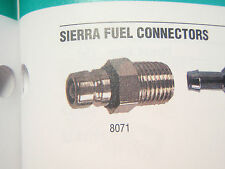 """CHRYSLER FORCE FUEL CONNECTOR TANK FITTING MALE 1/4"""" PIPE THREAD 47-8071 MARINE"""