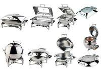 Chafing Dish Serie GLOBE rund und eckig für Induktionsplatten Gastlando
