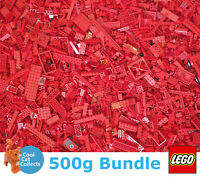 Genuine Lego 500g Bundle of Mixed Red Bricks Joblot + Free Minifigure
