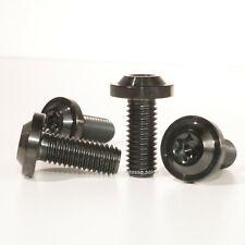 M8 x 20mm Bolts Black Titanium M8x20mm Screws Low Profile Flange Head T40 Torx