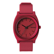 Nixon Time Teller P Watch Dark Red Ano