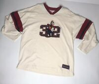Vtg Disney Goofy Long Sleeve Jersey Style Shirt Mens Xl V Neck Cartoon Promo
