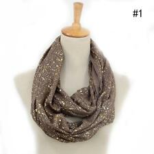 Women Cotton Infinity Scarf Loop Cowl Neck Plain Wrap Shawl Circle Snood new