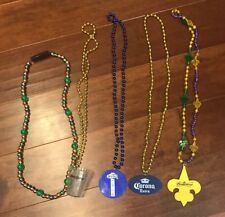 Lot of 5 Beads Bling perfect for Mardi Gras. Bud Light Corona Jose Cuervo Bud