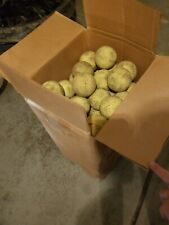 """New listing 58 Count Heavily Used 12"""" Dimpled Balls. Pitching Machine Batting Cage Softballs"""