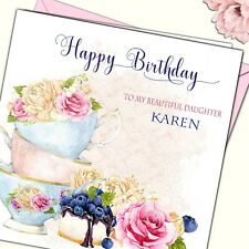 Personalised Birthday Card Grand Mother Daughter Niece Sister Friend 30 40 50th