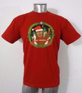Volcom Christmas Happy Holydaze youth t-shirt brick red XL NWT