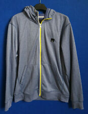 Bench Mens Grey Hoodie with Yellow & White Zip - Size XL