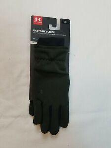 Under Armour Women's Gloves Storm Fleece Threadborne Size XS Artillery Green