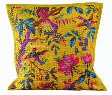 Indian New Gift Bird Cushion Cover Pillow Cotton Kantha Handmade Home Decor k4