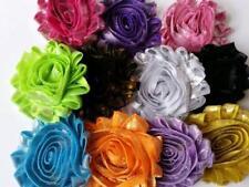 Shabby chiffon flower ,metallic shabby flower lot ,headband supplies