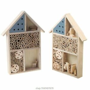 Natural Wooden Insect House Hotel Bee House Hive Habitat for Ladybugs Ladybirds