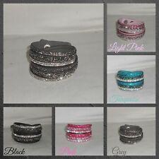 Bracelet,Cuff,Wrap,Sparkle,Adjustable...Crystals Wrap Cuff Bracelet(WB.W)