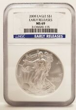 2008 Eagle S$1 - Early Releases - MS69 - NGC - Free Shipping!