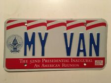 Vanity License Plate MY VAN 1993 Bill Clinton Inaugural Washington DC Dodge Ford