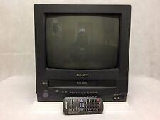 """SHARP 13"""" CRT TELEVISION - TV VCR COMBO (13VT-R100) w/ REMOTE"""