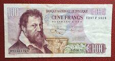 Belgique - Joli billet de 100 Francs du  30-06-1970 type Lombard  II