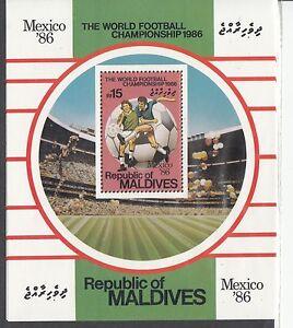 MALDIVE ISL Sc 1180 NH Souvenir Sheet of 1986 - Soccer