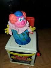 Vintage Mattel 1987 Jack In The Music Box Clown Pops Up Plays Musical  Works