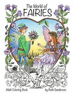 Vintage Fairies Adult Colouring Book Fantasy Mystical Magical Nature Fairy