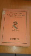 Collection Shakespeare - Hamlet - Les belles lettres (1929)