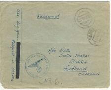 """German WWII SS Feldpost #39340/C 2nd SS Regt """"Estonian Legion""""  ~Narva~Kurland~"""