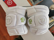NEW Warrior EVO PRO  White Large NY Lizards Lacrosse Defense Arm Pads