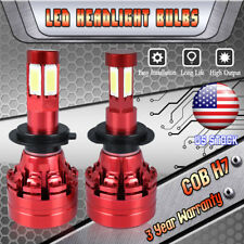 Motorcycle H7 COB LED Headlight Car Light Bulbs White 6000K VS 55W 35W HID Xenon