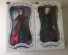 "NIB Limited Edition Disney Frozen Dolls Snow Anna Coronation Elsa 17"" LE 5000"