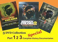 HIDDEN COLORS PART 1, 2 & 3  (3 DVD) KING FLEX