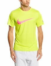 Nike Mens Stay Cool Practice Crew Tennis Shirt 619811-382 Green