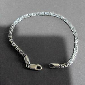 Vintage Handmade Italian Silver 925 Link Bracelet 12661