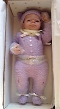 Ashton Drake Doll EMILY AND Angles Danced& ooak Moses Basket By ANNAMAY