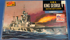 Lindberg HMS King George V British Battleship 1/750 Plastic Model Ship Brand New
