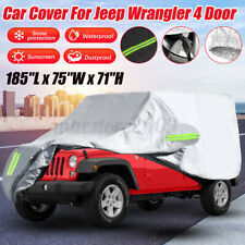 190t Waterproof Suv Car Cover For Jeep Wrangler Jl Cj Yj Tj Jk 4 Door 1987 2019 Fits Jeep