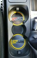 ford fiesta Mk 8 st line cup holder inserts set of two interior Yellow stline