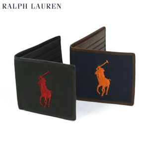 Polo Ralph Lauren Big Pony Wallet Canvas with Leather