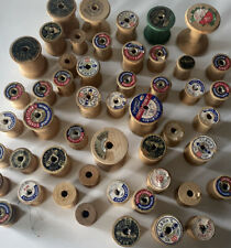 50 Vintage Wooden Thread Spools - Empty Sewing Spool Various Sizes