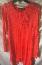 Isobella and Chloe Girls Red Lace Top Rayon Jersey Dress Size 14-New
